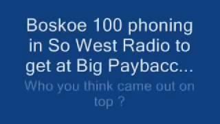 Rap Beef Pt 1 Big Paybacc Boskoe 100 live radio argument pt.1 Blood vs Crip argument on air.
