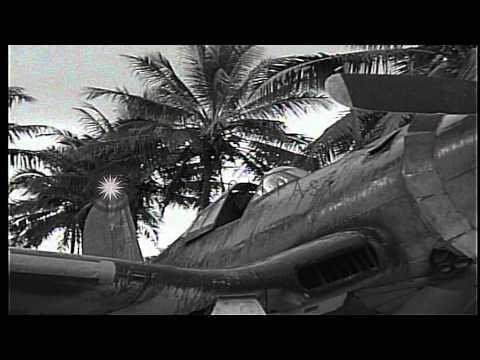 "F4U Corsair pilots of VMF-214 ""Blacksheep"" in Espiritu Santo, Vanuatu, including ...HD Stock Footage"