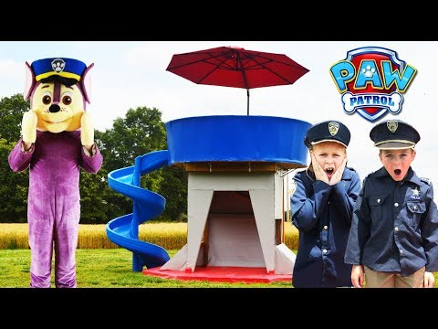 Paw Patrol Lookout Tower with real Chase featuring The Assistant
