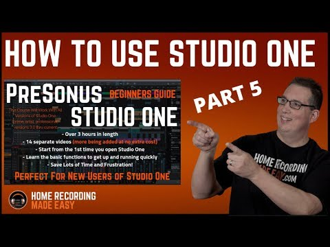 Recording Music - Presonus Studio One 3 - Beginners Guide #5 - Creating Your 1st Song