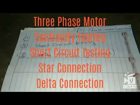 Three phase motor star/Delta Connection very easy - YouTube