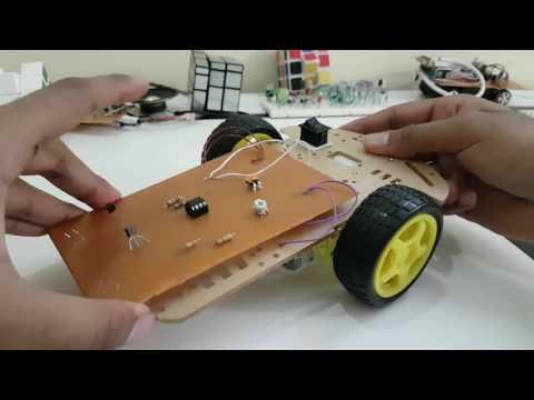 Line Following Robot DIY project showcase NO ARDUINO