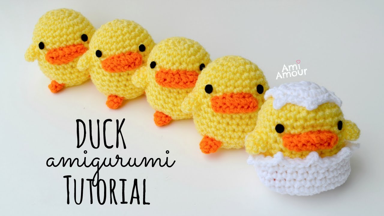 Duck Amigurumi Tutorial - Crochet for Beginners - Part 1 ...