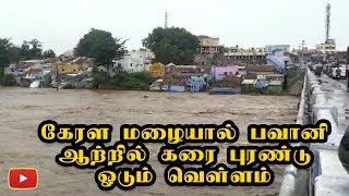 கேரளா தொடர் மழையால் பவானி ஆற்றில் கரை புரண்டு ஓடும் மழை வெள்ளம் - Kerala Flood