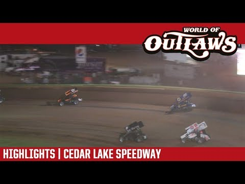 World of Outlaws Craftsman Sprint Cars Cedar Lake Speedway July 7, 2018 | HIGHLIGHTS