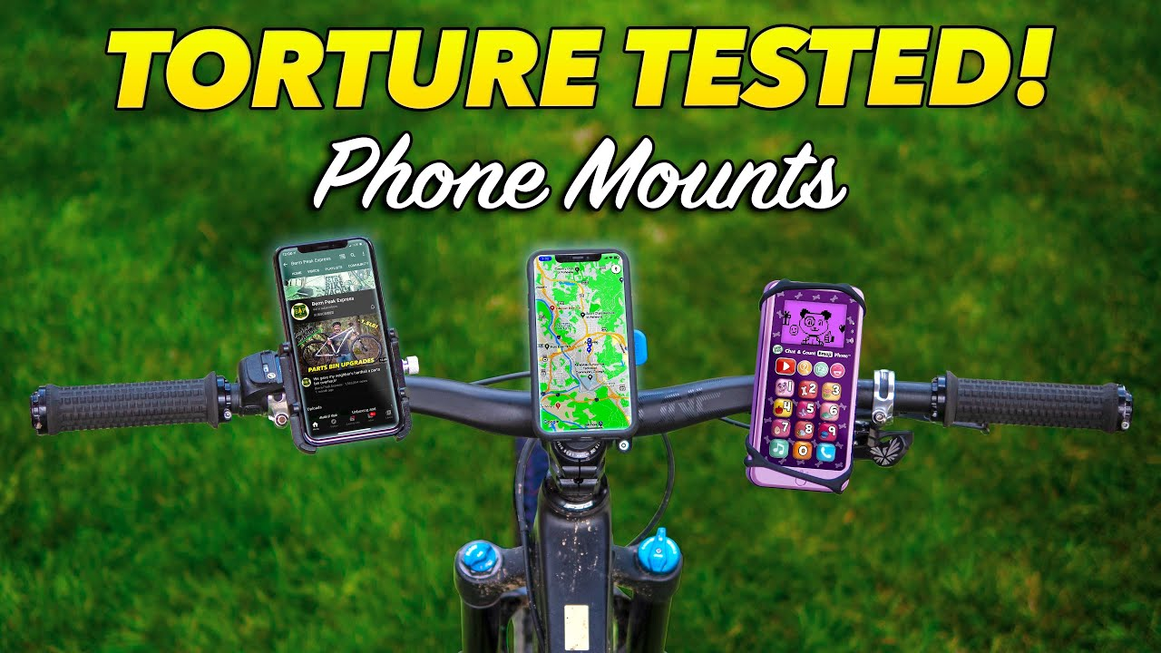 Tested brutally! Bicycle smartphone handlebar mounts