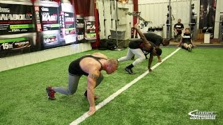 inner armour bodybuilder vs football player 10 yard dash