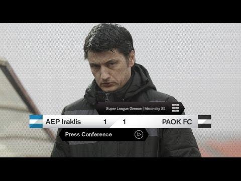H συνέντευξη Τύπου του ΑΕΠ Ηρακλής-ΠΑΟΚ - PAOK TV