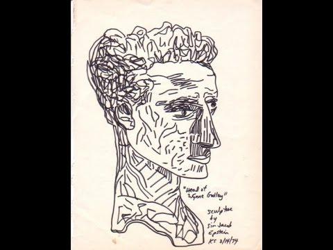 Parkland College art student A.K. Segan: Jacob Epstein sculpture sketches,1974: Krannert Center ©