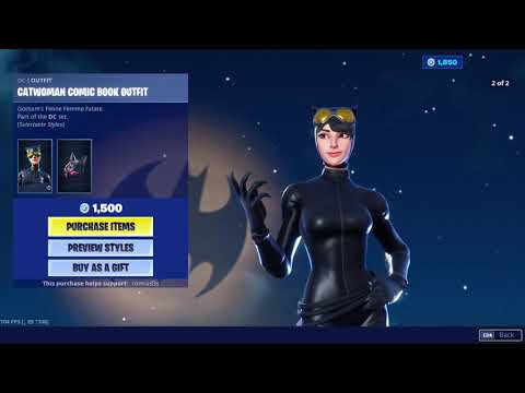 Fortnite X Batman All Free Items and Item shop Skins and Item Showcase