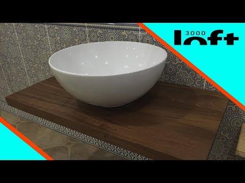 Лофт стол под раковину/ Изготовление столешницы из дорогой африканской древесины / ЛОФТ 3000