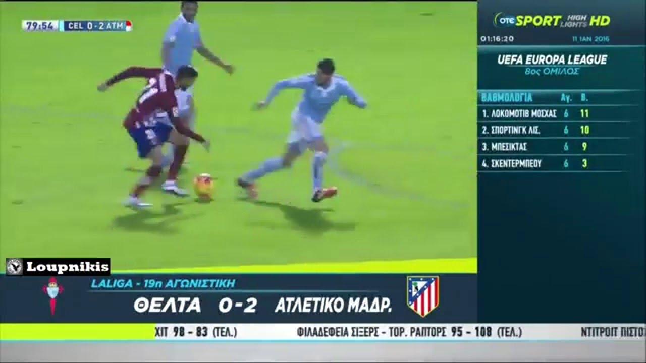 Download Celta de Vigo vs Atlético Madrid 0-2 All Goals and Highlights {10/1/2016}