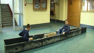 Студенты СПБГМТУ строят водный велосипед(Студенты Морского технического университета строят водный велосипед. В мае корабелы примут участие в межд..., 2016-03-17T18:34:29.000Z)