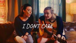Ed Sheeran and Justin Bieber - I Don't Care | Cover by Zoe and Kyndle