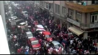ŞAMPİYON SAMSUNSPOR güngören belediyespor maç sonrası çiftlik caddesi www.Taraftaralemi.com
