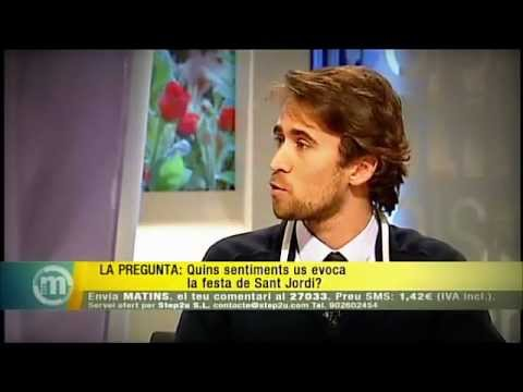 Myself speaking Catalan at the local TV channel TV3