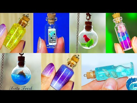 20 mini Charm Bottles - Cutest Jewelry DIY! MINI CHARMS IN A BOTTLE!