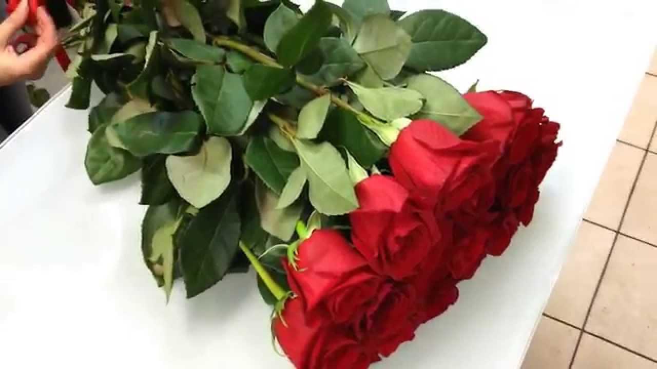 букет 201 роза 90 см - YouTube