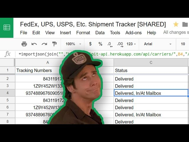 Track FedEx and UPS Packages in Google Sheets 📦 - YouTube