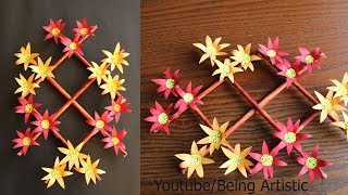 Paper Wall Hanging Craft Ideas - Paper Flower - Paper Craft - Paper Wall Decoration