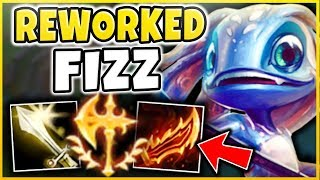 WTF?! FIZZ GOT ANOTHER REWORK?!? HE CAN 1V9 ANYONE NOW!!! REWORKED FIZZ GAMEPLAY! League of Legends