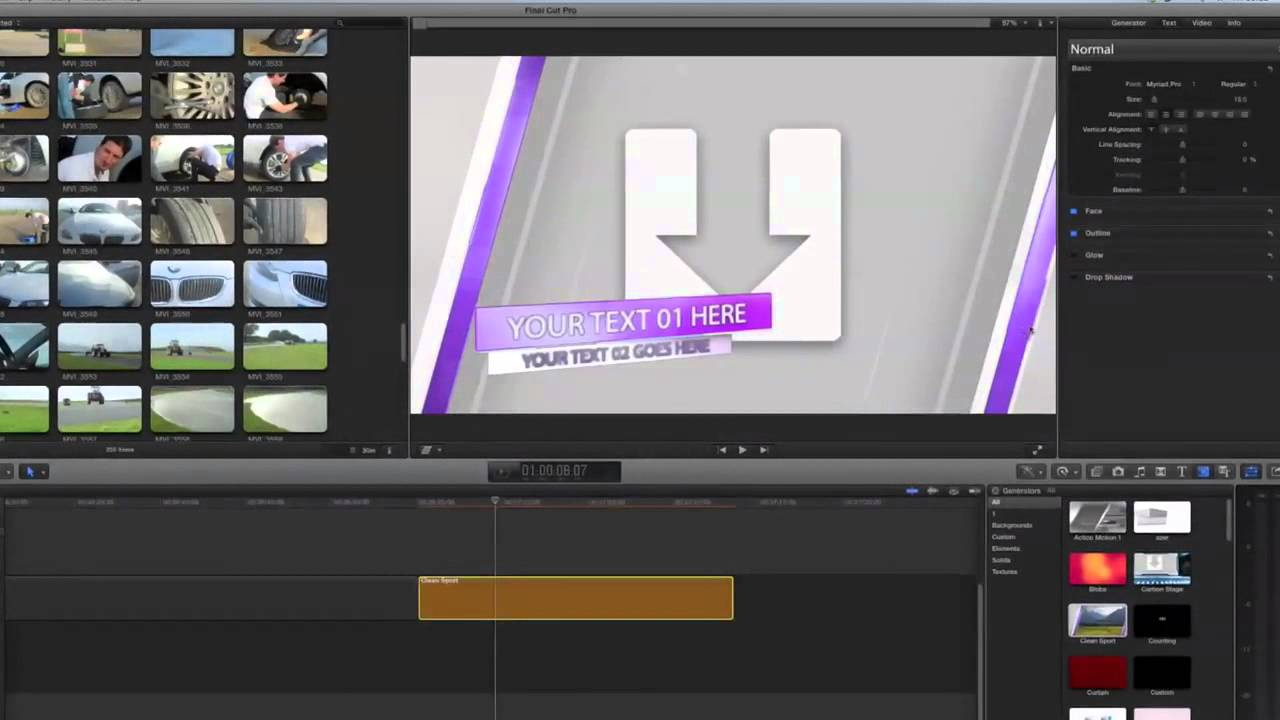 Fcpx Motion Templates | Apple Motion Tutorial How To Export Apple Motion Templates To Fcpx