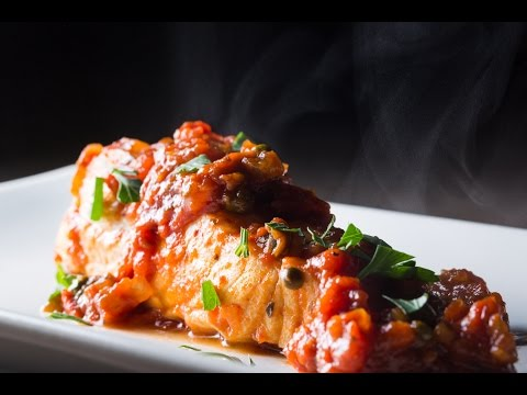 How To Poach Halibut In Tomato Sauce | SAM THE COOKING GUY