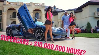 Supercars CRASH $10,000,000 Million Dollar House Party & Mod2Fame Caught it on Camera