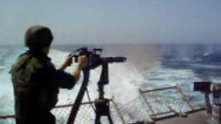 Military Minigun Test Fire On Ship