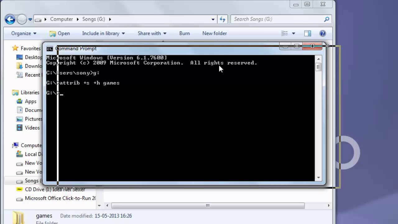 unhide files windows 10 cmd
