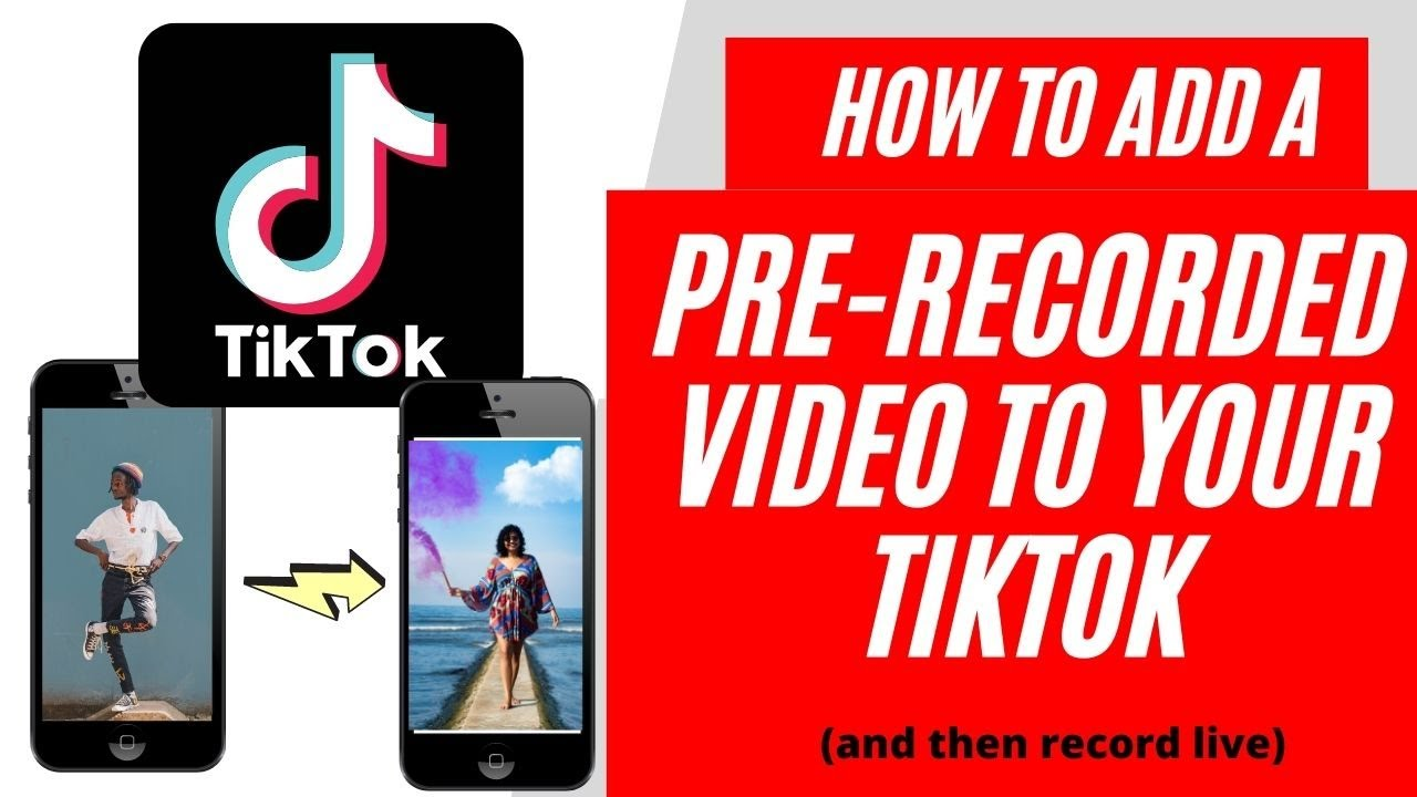 How To Add A Prerecorded Video To Tik Tok Hack Stitch A Tiktok Video Together Youtube