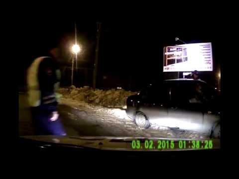 Погоня полиции за водителем в Йошкар-Оле 03 03 2015