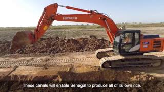 Hitachi machinery in West African agricultural project