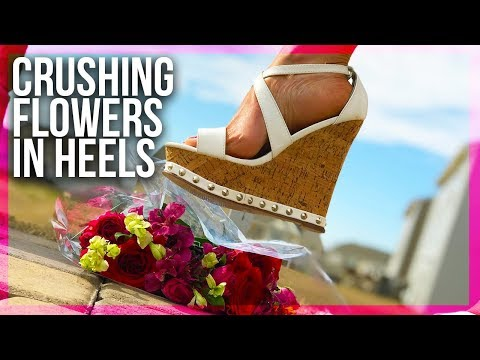 Crushing Flowers (Delicately) in 5inch (13CM) Open Toe Wedges