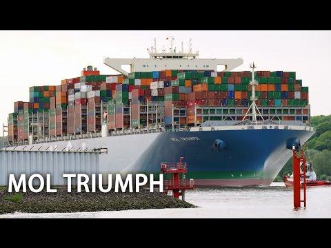 container-ship-mol-triumph:-maiden-call-in-hamburg- -20.170-teu