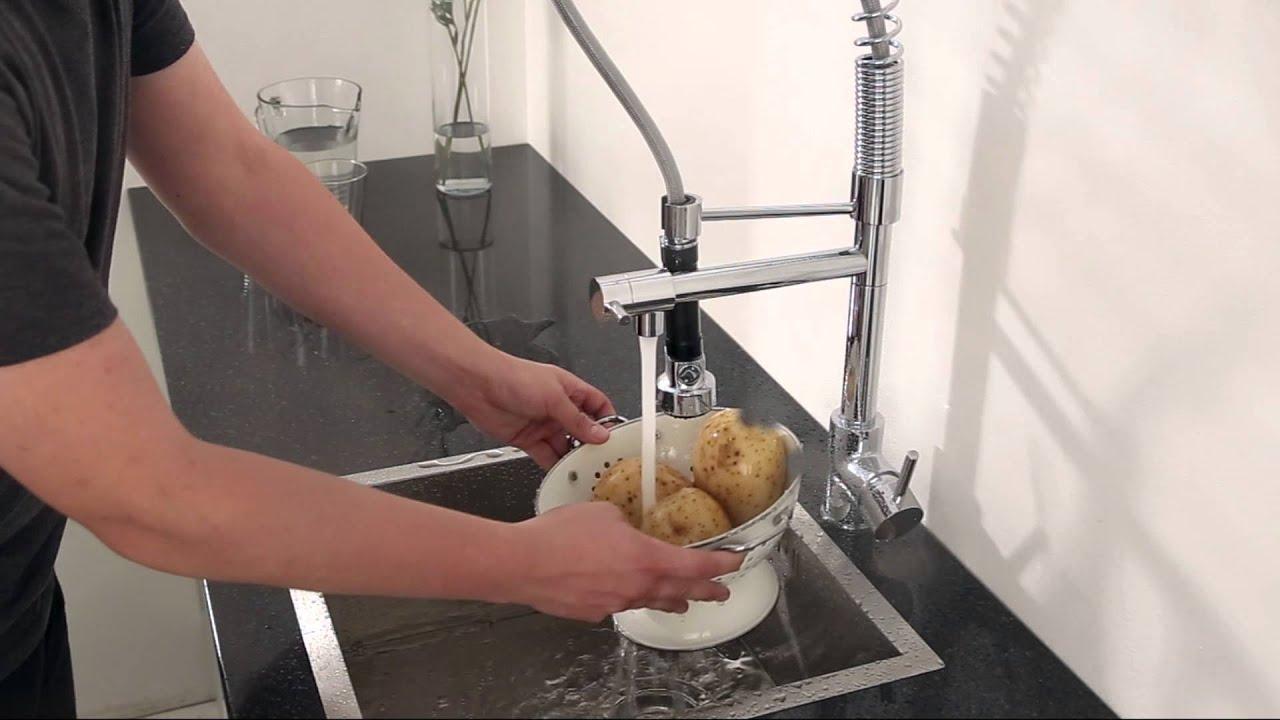 Grifo mezclador de cocina multifunci n alto ducha grifo for Miscelatore cucina ikea