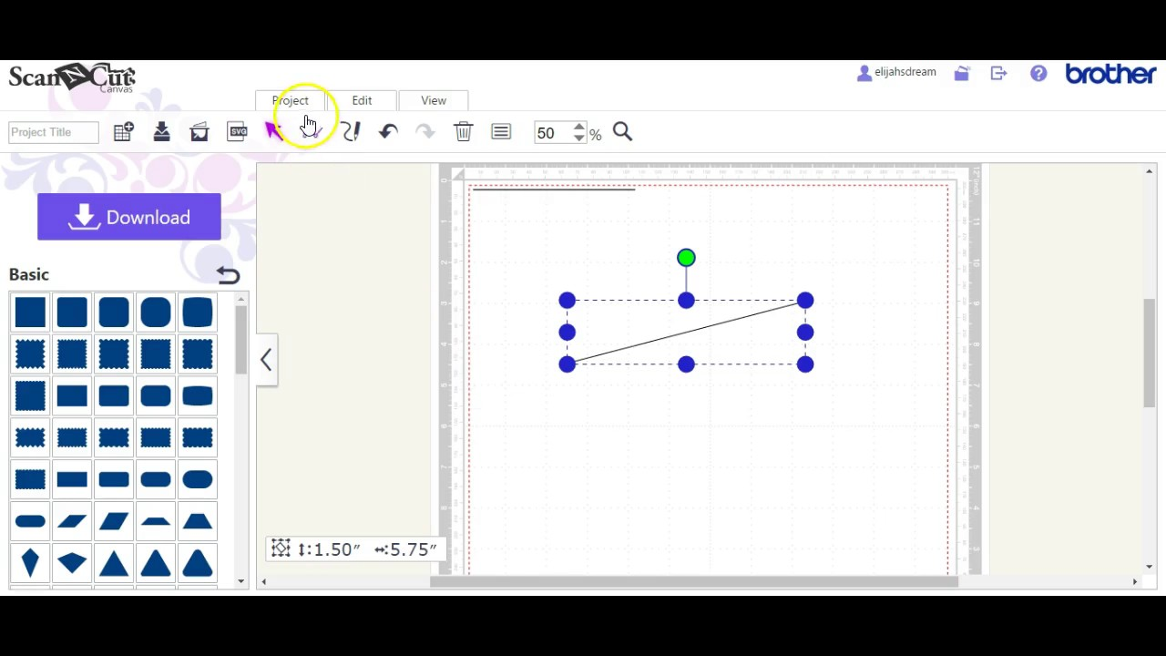 Drawing Lines In Jcanvas : How to draw a line in canvas brother scanncut jen blausey