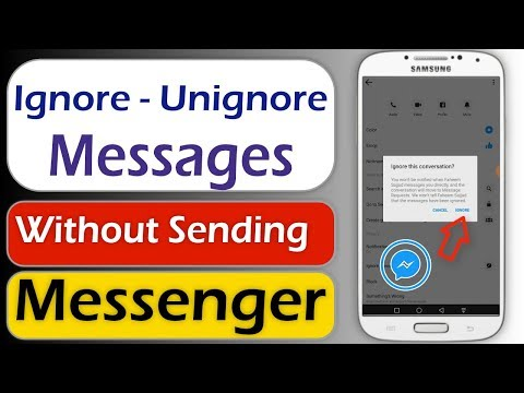 How To Ignore Messages On Messenger Without Sending Or Receiving Message And Undo Ignore Messages