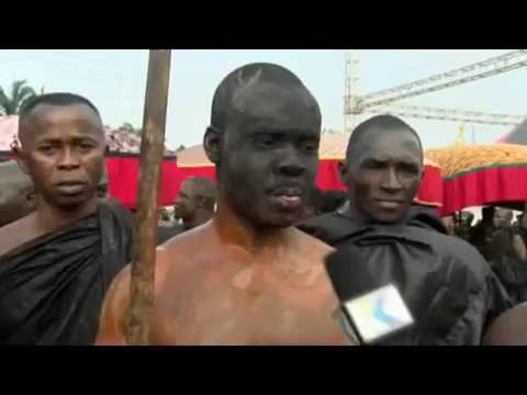 Otumfour Osei Tutu II, Asanatehene sits in his Palanquin to Display Ashanti Cultureday 5
