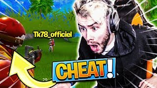 TOP 1 CONTRE DES CHEATERS AVEC THEKAIRI78 SUR FORTNITE BATTLE ROYALE !!