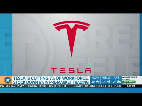 Tesla stock down as job cuts announced