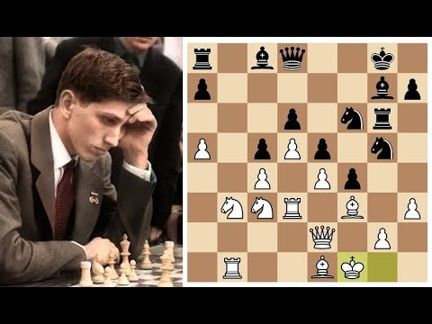 Бобби Фишер разносит Корчного в Староиндийке черными! Шахматы.