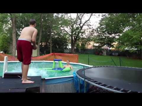 Amazing Pool Dunk! RILEY THOMAS VINCENT VICTOR