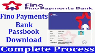 Fino payment bank passbook   अब fino bank का passbook और print करके दीजिये