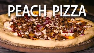 Balsamic Peach Pizza | Primo XL Oval Pizza Recipe - Big Meat Sunday