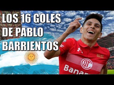 Los 16 goles de Pablo Barrientos con Toluca