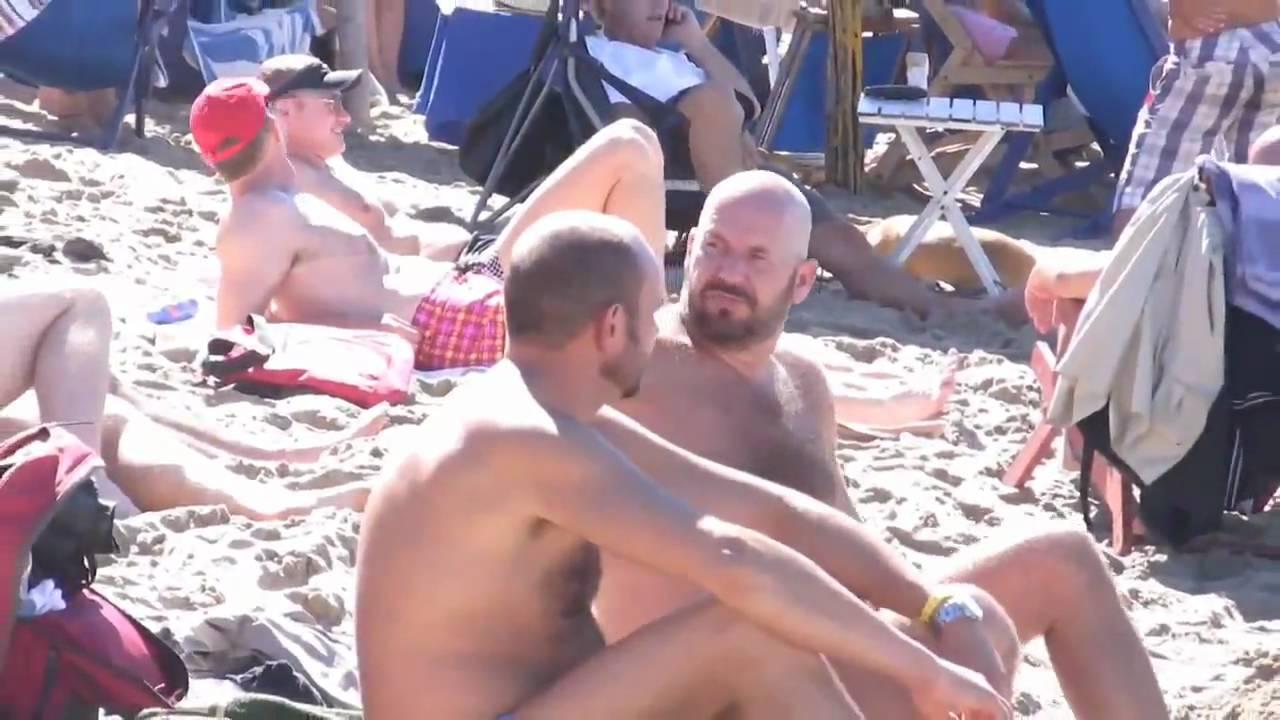 Topless women cuting hair