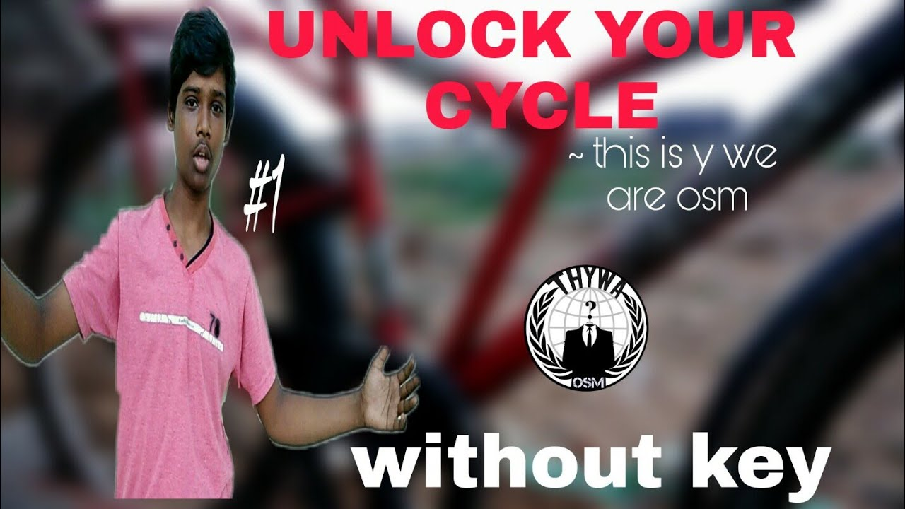 how to unlock cycle lock without key