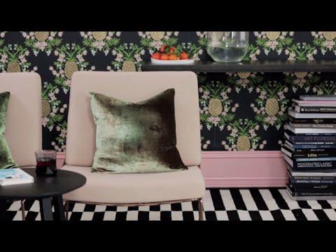 Interior Design — DIY Bold Patterned Wallpaper Project