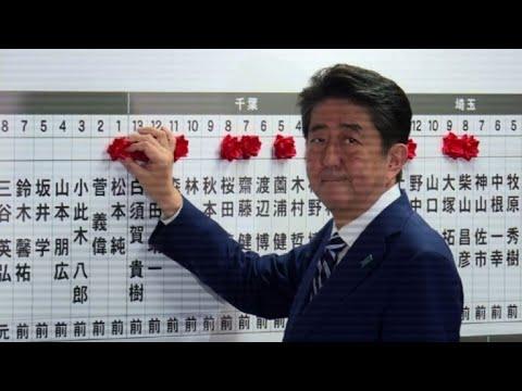 afpes: Amplia victoria del primer ministro Abe en Japón